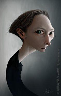 Nico Di Mattia – Caricaturas.   Tilda Swinton