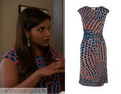 The Mindy Project: Season 3 Episode 10 Mindy's Scale Print Dress