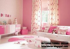 pink girls bedroom ideas 2014, modern girls room pink