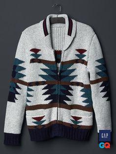 Gap + GQ David Hart wool zip cardigan - DUMMY VALUE