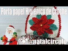 """PORTA PAPEL HIGIÊNICO DE NATAL """"VIDEOAULA""""   Mundo de Soraia"""