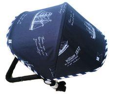 Custom Extendable Canopy Hood for Bugaboo Cameleon, Donkey, Buffalo. Orbit Baby G2 Dachbezug Zonnekap