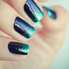 gel manicures-love sparkles at end