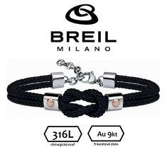 BREIL (Milano) pánsky náramok oceľ + 9kt(ružové zlato) - nastaviteľná dĺžka Personalized Items, Bracelets, Jewelry, Fashion, Moda, Jewlery, Jewerly, Fashion Styles, Schmuck