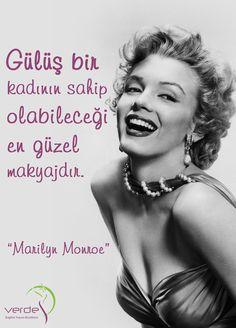 Gülüş bir kadının sahip olabileceği en güzel makyajdır.  -Marilyn Monroe  #verdesağlık #mutlupazarlar #gülüş #gülümseme #MarilynMonroe
