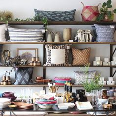 These shelves never stay the same for long, but they are always chock-full of covetable items  Coveted Home KC