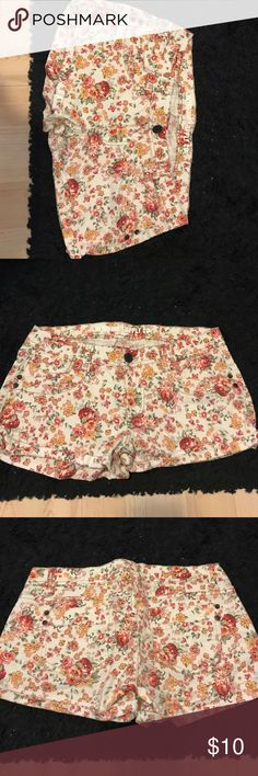 Floral Shorts Floral Shorts   True To Size for Juniors Mossimo Supply Co. Shorts