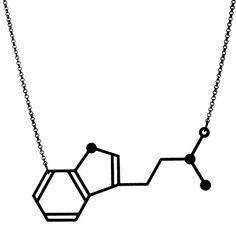 DMT Dimethyltryptamine Molecule Necklace by arohasilhouettes on Etsy - $60.00