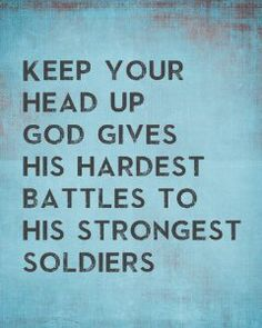 God goes after the weak and make them strong. He continues to refine his soldiers by going through the fires. We uphold from destruction because he knows we will endure it with his strength.