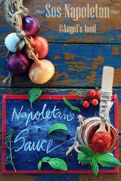 Sos Napoletan facut in casa~Homemade Napoletana sauce