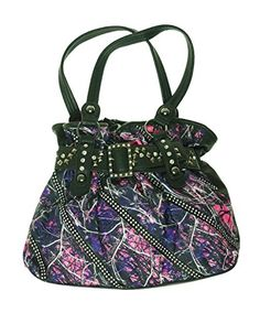 Muddy Girl Print Front Black Back Handbag >>> You can get more details by clicking on the image.