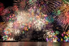Fireworks in Biwako lake, Shiga prefecture, Japan Fire Works, Vacation Pictures, Something Beautiful, Sparklers, Mother Earth, Wonders Of The World, Awesome, Amazing, Cool Pictures