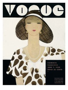 Vogue cover ,June 7, 1930 // illustrated by Harriet Meserole
