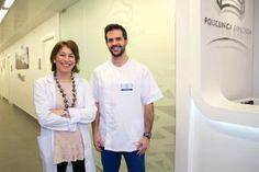 Dra. Laura Quintas, cardióloga y el Ldo. en Actividad Física y fisioterapeuta, Javier Muñoz, parte del equipo de Rehabilitación Cardiaca