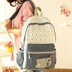 Cool! Ocio Pueblo Ancla Punto Patrón Bolsa para la escuela Mochila just $33.99 from ByGoods.com! I can't wait to get it!