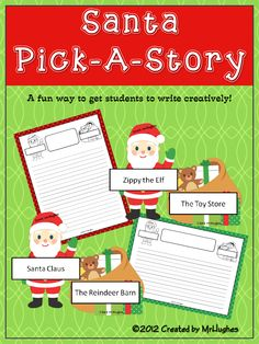 If you need a fun way to get your students writing creatively this Holiday season, look no further!  Perfect for writing centers, partner, or whole class work! ($)