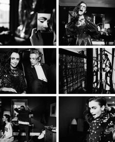 Lily Collins & Jamie Campbell Bower | Vogue Photo Diary.