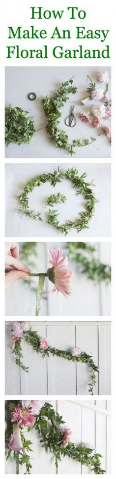 How To Make A Floral Garland - Rustic Wedding Chic