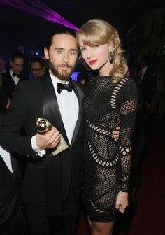 Jared Leto & Taylor Swift - Globo de Ouro
