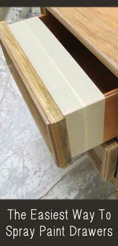 Easiest way to spray paint (or brush) drawers.