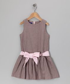 Take a look at this Pink Houndstooth Sash Dress - Toddler & Girls by Cotton Blu & Cotton Pink on #zulily today!