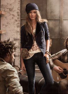 "The Denim & Supply Cotton Officer's Jacket is the key look in Avicii's new video for his hit single, ""Wake me up"""