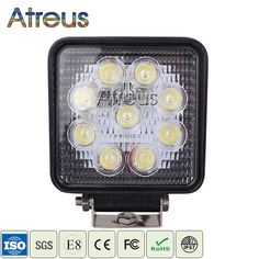 4 Inch 27W High-Power 9X 3W Square LED Work Light 12V Spot Beam For 4x4 Offroad ATV Truck Tractor Motorcycle Driving Fog Lights♦️ SMS - F A S H I O N 💢👉🏿 http://www.sms.hr/products/4-inch-27w-high-power-9x-3w-square-led-work-light-12v-spot-beam-for-4x4-offroad-atv-truck-tractor-motorcycle-driving-fog-lights/ US $12.29