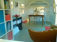 My dream as an art teacher: find an Airstream and transform it into a roaming art studio for kids.  I love this beauty.