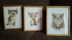 Geometric animals/collage of wallpaper by VAT