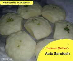 Authentic Bengali Aata Sandesh