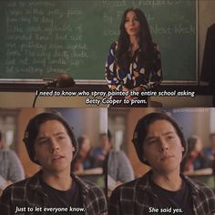 riverdale jughead jones asexuality scenes quotes betty cooper bughead In some of the Archie Comics, Jughead is portrayed as asexual. So why did they go a different route on the show Riverdale? Riverdale Quotes, Bughead Riverdale, Riverdale Funny, Stupid Funny Memes, Funny Quotes, Fun Funny, Hilarious, Glee, Riverdale Betty And Jughead