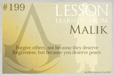 Assassin's Creed Life Lessons from Malik
