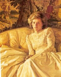 Princess Diana painted by Prince Charles himself in 1985