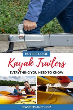 Are you looking for the Best Kayak Trailer of Well look no further because we have the top rated options for all of your hauling needs! Kayak For Beginners, Kayak Cart, Kayak Fishing Accessories, Kayak Trailer, Kayaking Tips, Beach Trip, Beach Travel, Kayak Adventures, Surfing Pictures