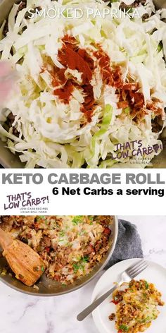 Cabbage Roll Casserole – Unstuffed Cabbage Rolls – That's Low Carb! Cabbage Roll Casserole is Keto friendly and low-carb solution to your cabbage roll cravings. Simple, easy and delicious. This is sure to become a family favorite. Cabbage Recipes, Beef Recipes, Low Carb Recipes, Cooking Recipes, Healthy Recipes, Hgc Diet Recipes, Keto Cabbage Recipe, Salad Recipes, Egg Roll Recipes