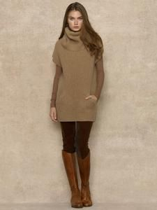 Ribbed Funnelneck Tunic