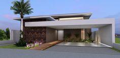 """Os clientes desejam uma casa que atenda a uma família típica da classe média-alta. Assim, o desejo de uma cobertura clássica foi modernizada com telhados em telhas de concreto e suavizados com caimentos em """"4 águas"""" e detalhes arquitetônicos con"""