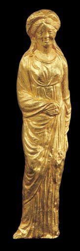 Gold statuette of Aphrodite, 100 A.D., Benaki Museum of Greek Civilization.