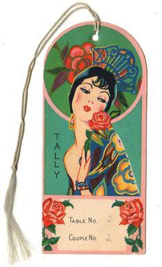 1940's Vtg Art Deco Bridge Card Game Tally with Beautiful Lady Spanish Senorita   eBay