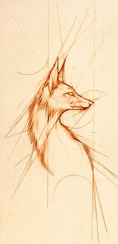 Lines by =Skia on deviantART (Again, love the fox/geometric combo!) | FollowPics