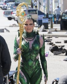 Pin for Later: Elizabeth Banks Throws the Mother of All Tantrums on the Set of Power Rangers as Rita Repulsa