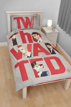 the Wanted 'Forever' Panel Single Bed Duvet Quilt Cover Set:Amazon:Baby