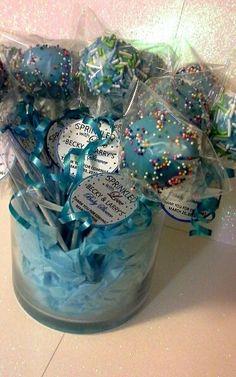 Cakepop favors by Davis Floral Creations Larry, Hanukkah, Sprinkles, Favors, Baby Shower, Wreaths, Floral, Home Decor, Florals