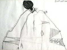 Girl in an Exotic Dress, Charcoal, Pat Douthwaite - The Scottish Gallery, Edinburgh - Contemporary Art Since 1842 Edinburgh, Art Drawings, Contemporary Art, Exotic, Gallery, Artist, Charcoal, Dress, Paintings