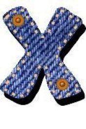 Alphabet Jeans - Letter X