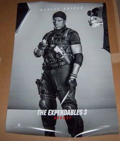 The EXPENDABLES 3 Wesley Snipes Original Movie Poster, Fast Shipping Included!
