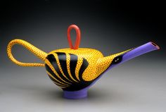 Whimsical Teapots and Tea Cups! Elisabeth Maurland Teapot, Philadelphia Museum of Art Craft Show