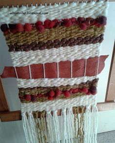 murales y tapices Tapestry Weaving, Loom Weaving, Weaving Wall Hanging, Textiles, Weaving Projects, Crochet Top, Projects To Try, Embroidery, Blog