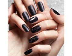Jin Soon's dark, sparkly nail polish from our friends at LOULOU Magazine.
