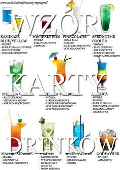 Przykładowa karta drinków zaprojektowana przez naszego barmana :) http://czekoladowefontanny-imprezy.pl/uslugi-barmanskie.html